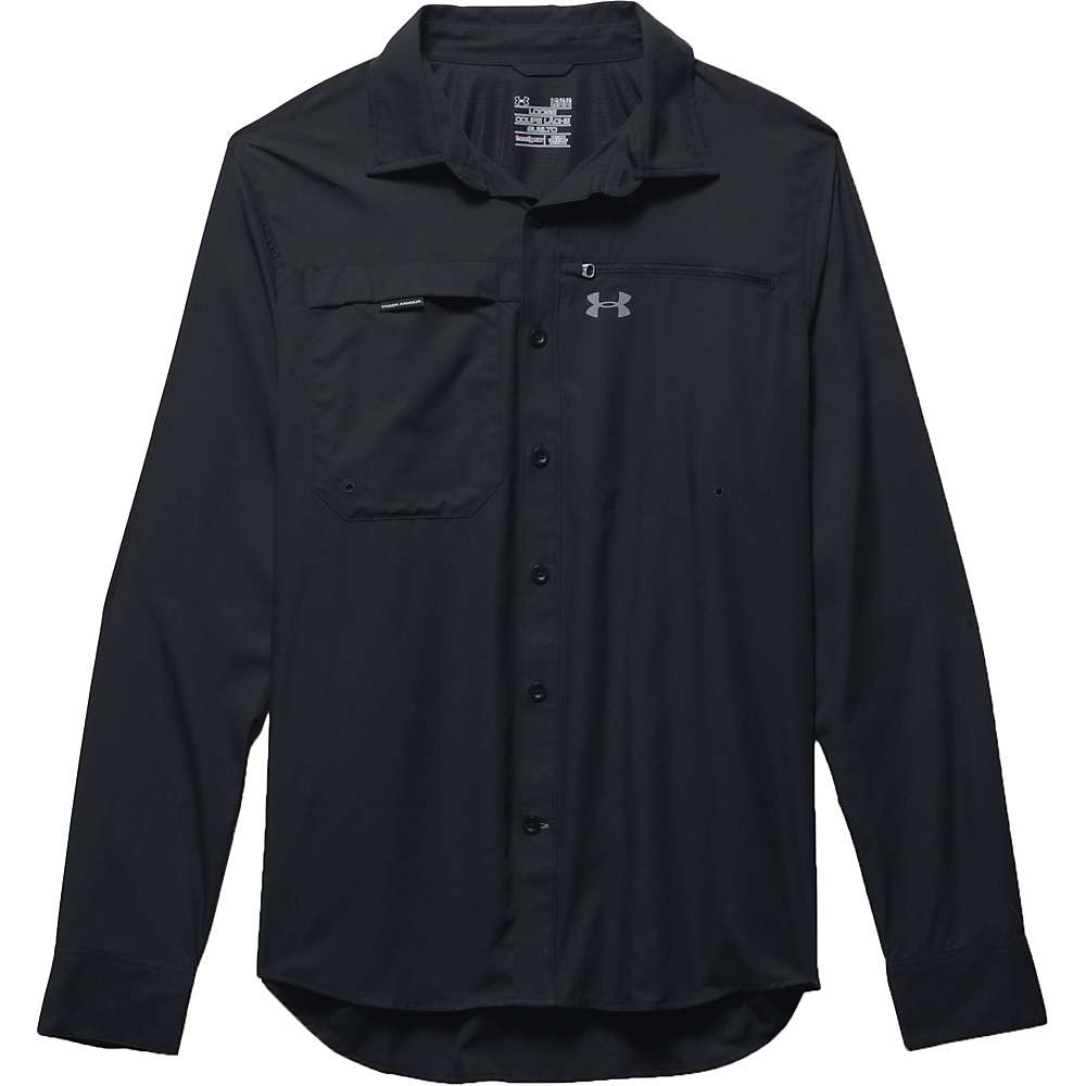 Under Armour Men's Fish Stalker LS Shirt - Large - Black / Steel