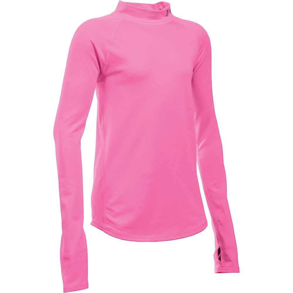Under Armour Girl's Performance Mock Top - Large - Pink Punk / Reflective