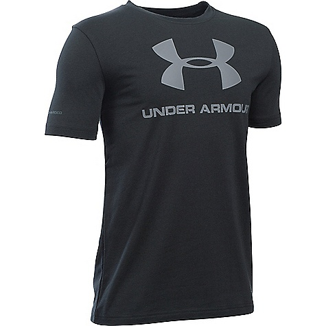 Under Armour Boy's Sportstyle Logo SS Tee Black / Steel