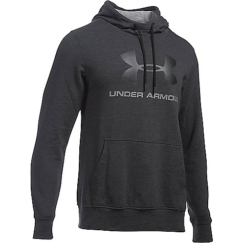Under Armour Men's Sportstyle Logo Hoody Asphalt Heather / Black