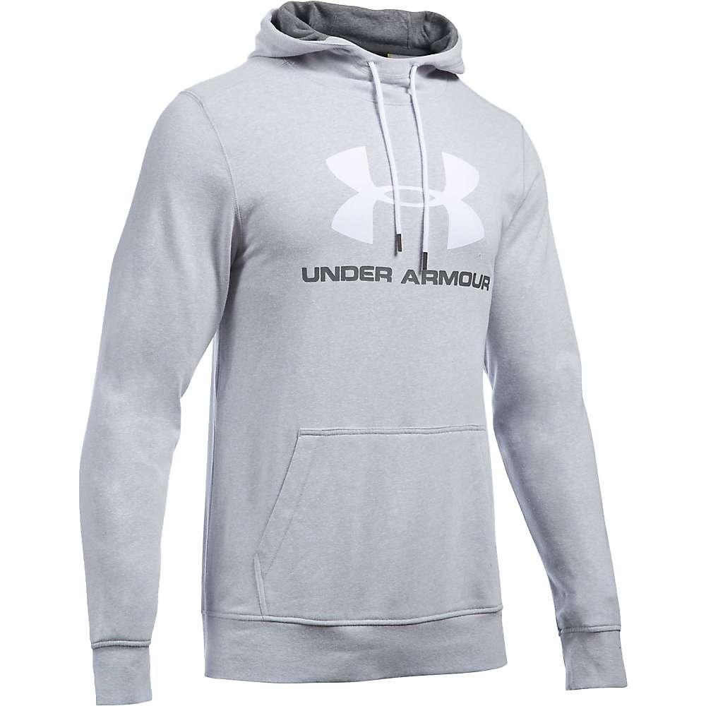Under Armour Men's Sportstyle Logo Hoody - Medium - Air Force Grey Heath / White