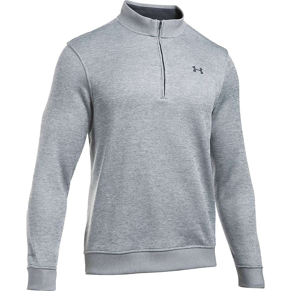 Under Armour Men's UA Storm SweaterFleece 1/4 Zip Top - XXL - True Grey Heather / True Grey Heather/Stealth Grey