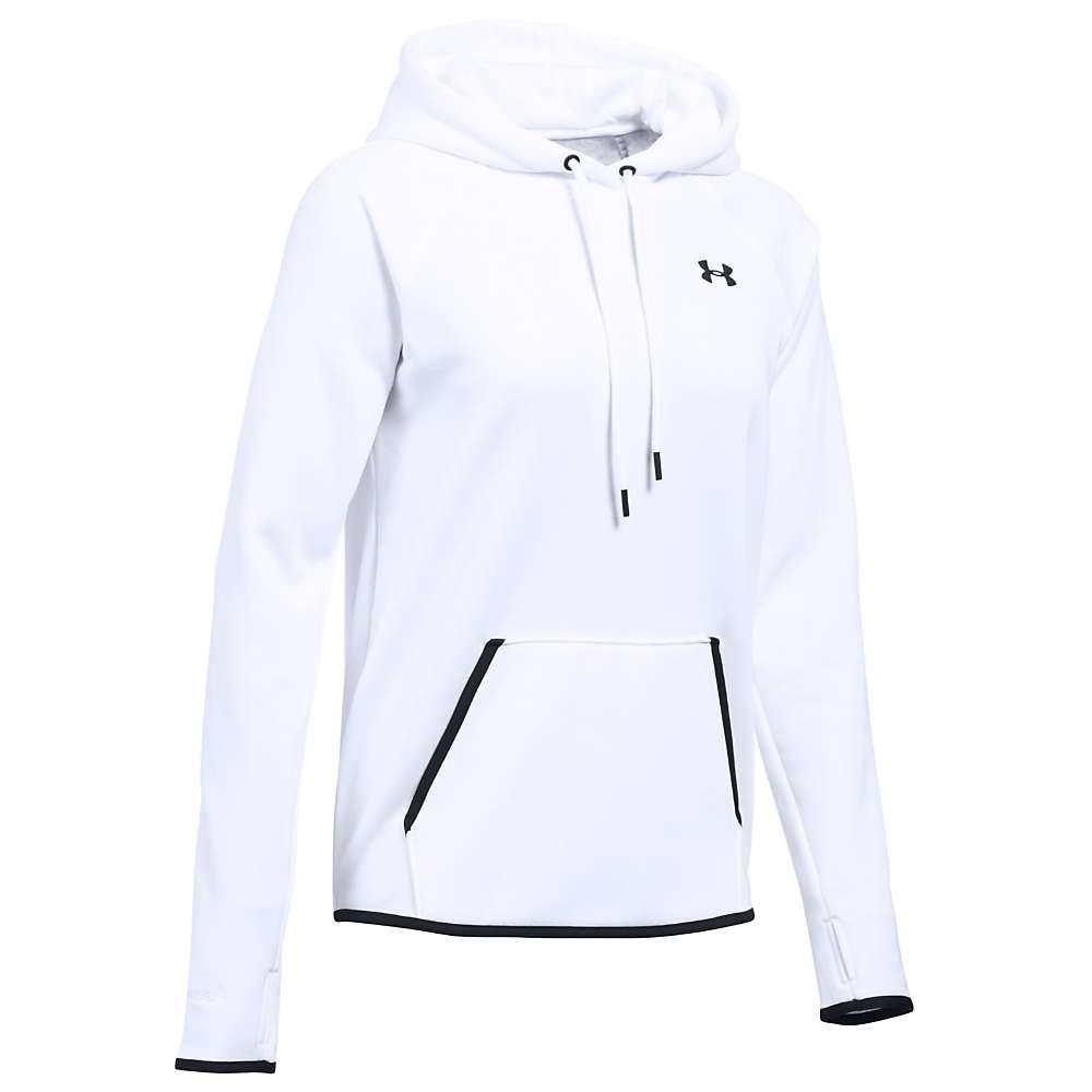 Under Armour Women's UA Storm Armour Fleece Icon Hoodie - XS - White / Black / Black