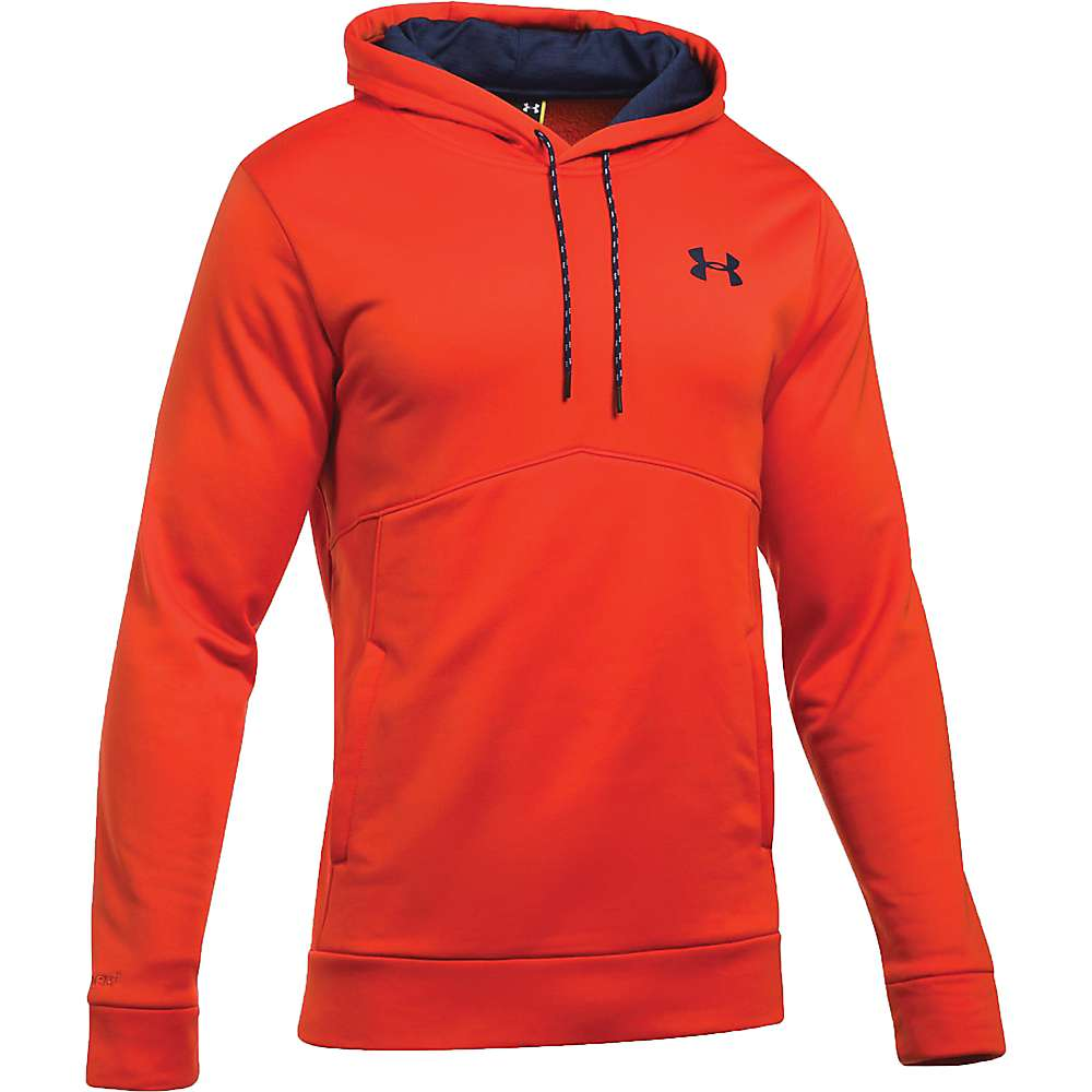 Under Armour Men's UA Storm Armour Fleece Icon Hoodie - Medium - Dark Orange / Black / Black