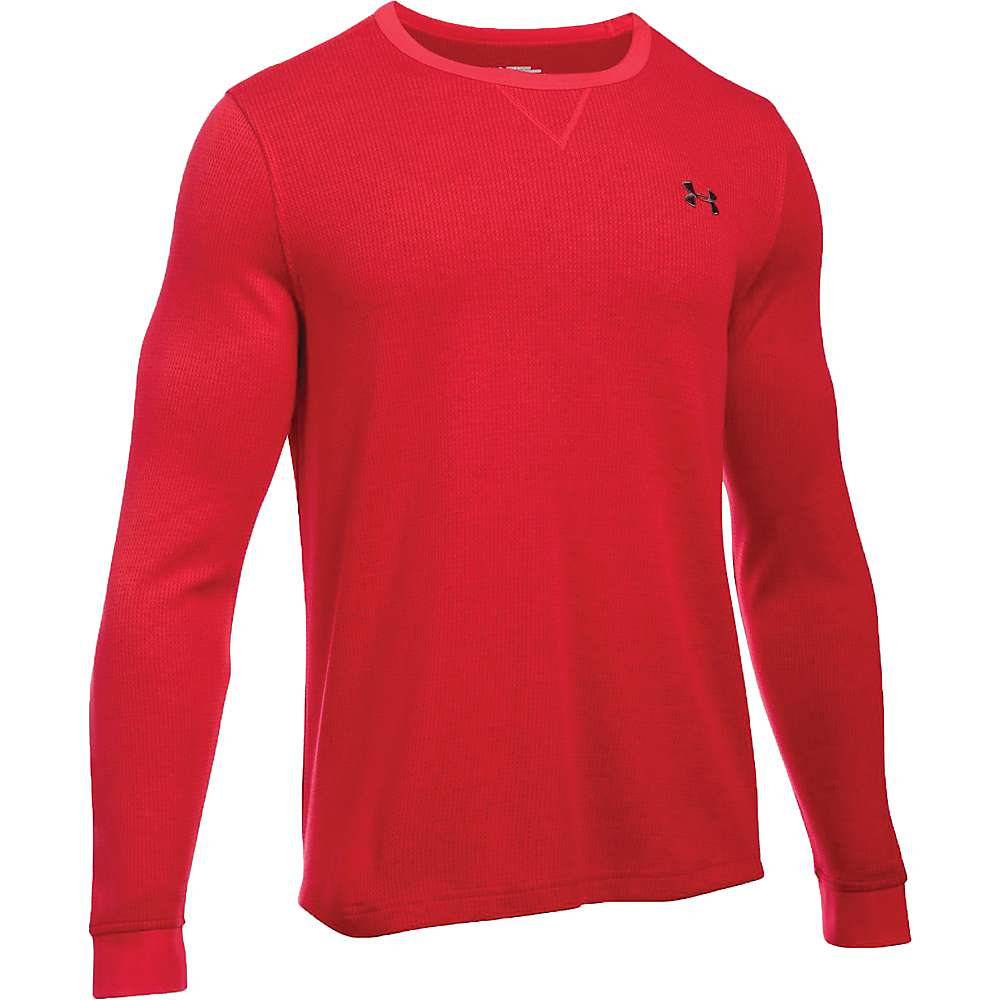 Under Armour Men's Waffle LS Crew - Small - Red / Cardinal / Graphite