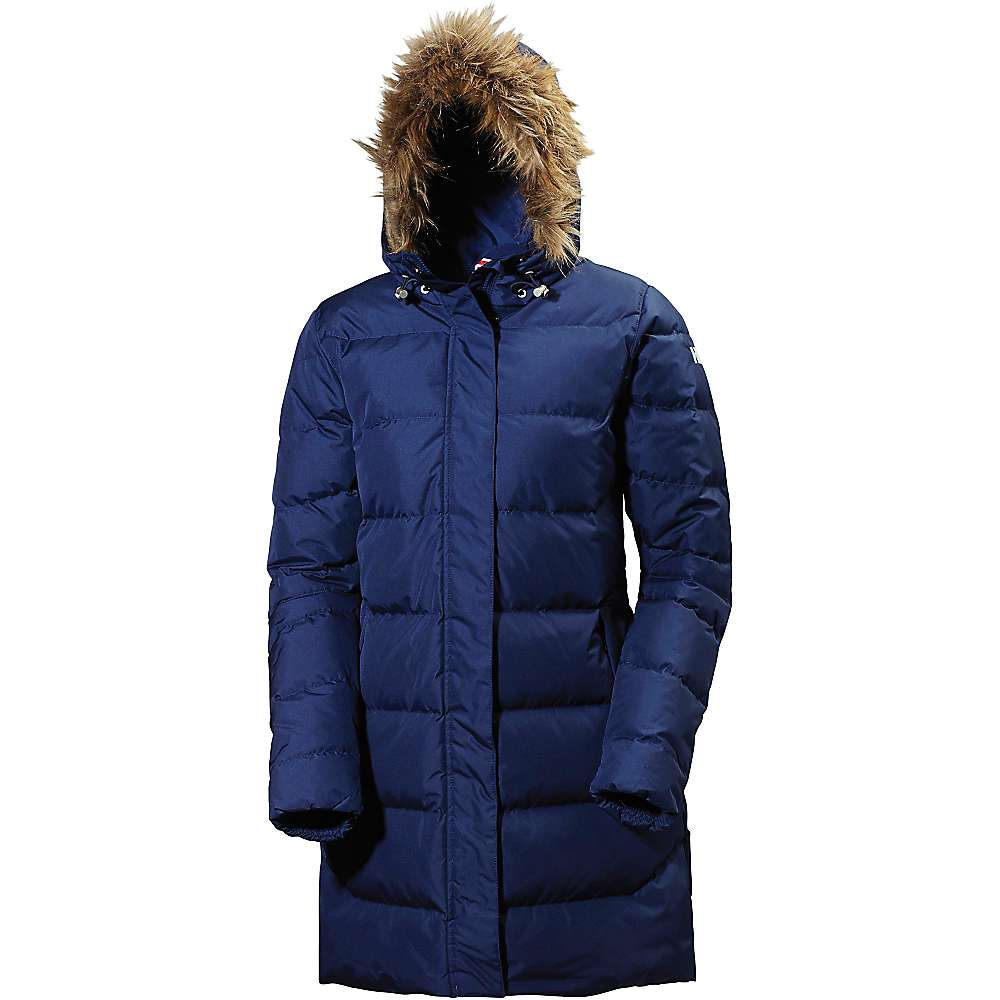 Helly Hansen Women's Aden Down Parka - Large - Evening Blue