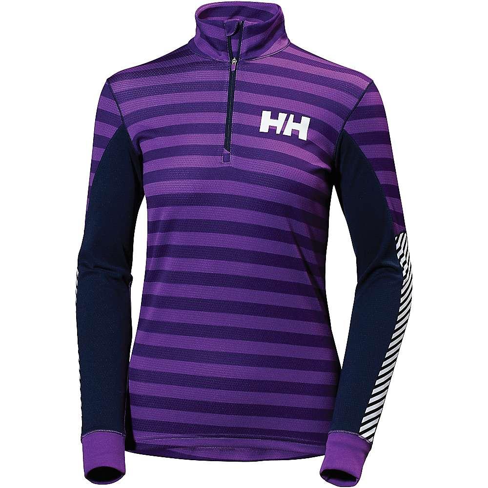 Helly Hansen Women's HH Active Flow Graphic 1/2 Zip Top - Small - Sunburned Purple Classic