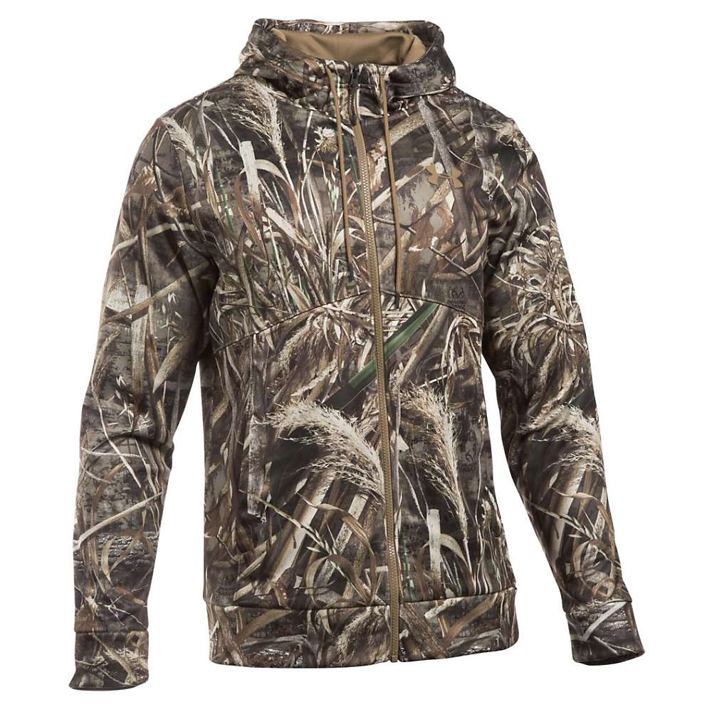 Under Armour Men's Icon Camo Full Zip Hoodie - XXL - Realtree Max 5 / Saddle