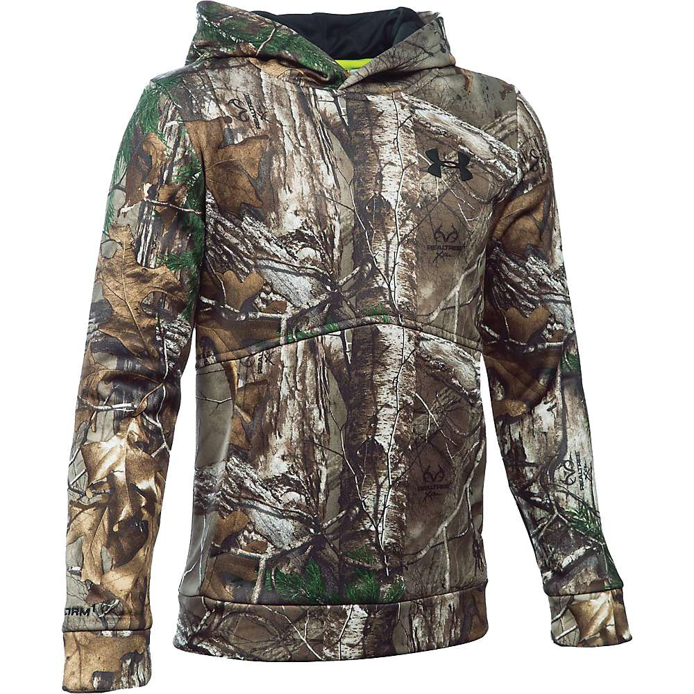 Under Armour Boy's Icon Camo Logo Hoodie - XL - Realtree Ap-Xtra / Black