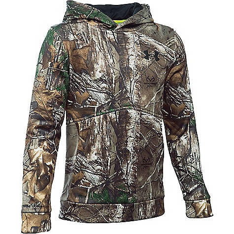 Under Armour Boy's Icon Camo Logo Hoodie Realtree Ap-Xtra / Black