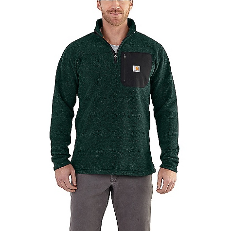 Carhartt Men's Walden Quarter Zip Sweater Fleece Canopy Green