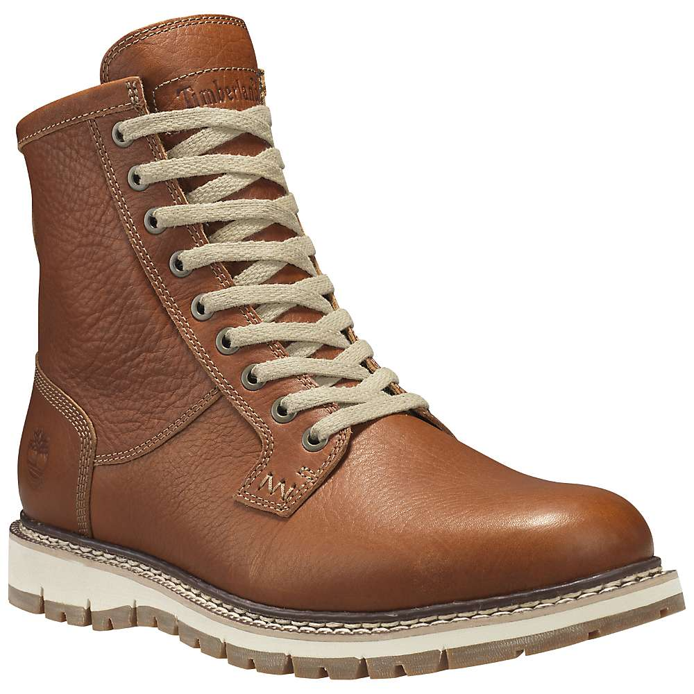 Timberland Men's Britton Hill Waterproof Boot - 9 - Burnt Orange Full-Grain