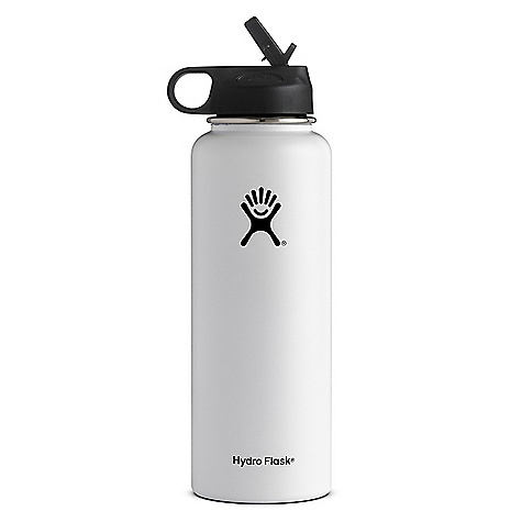 Hydro Flask 40oz Wide Mouth Insulated Bottle with Straw Lid White