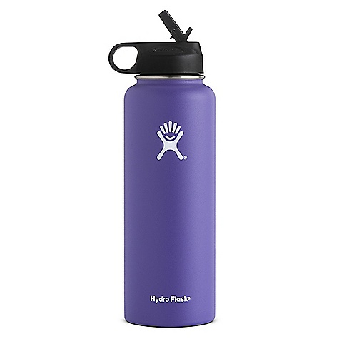 Hydro Flask 40oz Wide Mouth Insulated Bottle with Straw Lid Plum