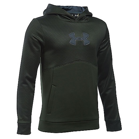 Under Armour Boys'' Armour Fleece Storm Mid Logo Hoodie 1282927
