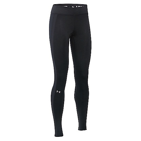 Under Armour Women's UA ColdGear Armour Legging Black / Black / Metallic Silver