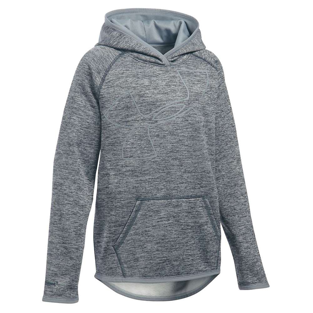 Under Armour Girls' UA Storm Armour Fleece Novelty Big Logo Hoody - Small - Stealth Gray / Steel