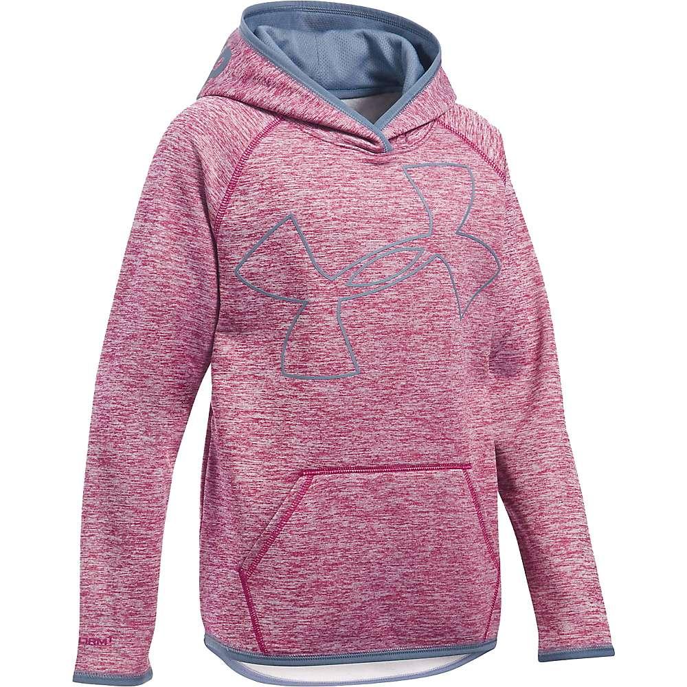 Under Armour Girls' UA Storm Armour Fleece Novelty Big Logo Hoody - XL - Black Cherry / Aurora Purple / Aurora Purple