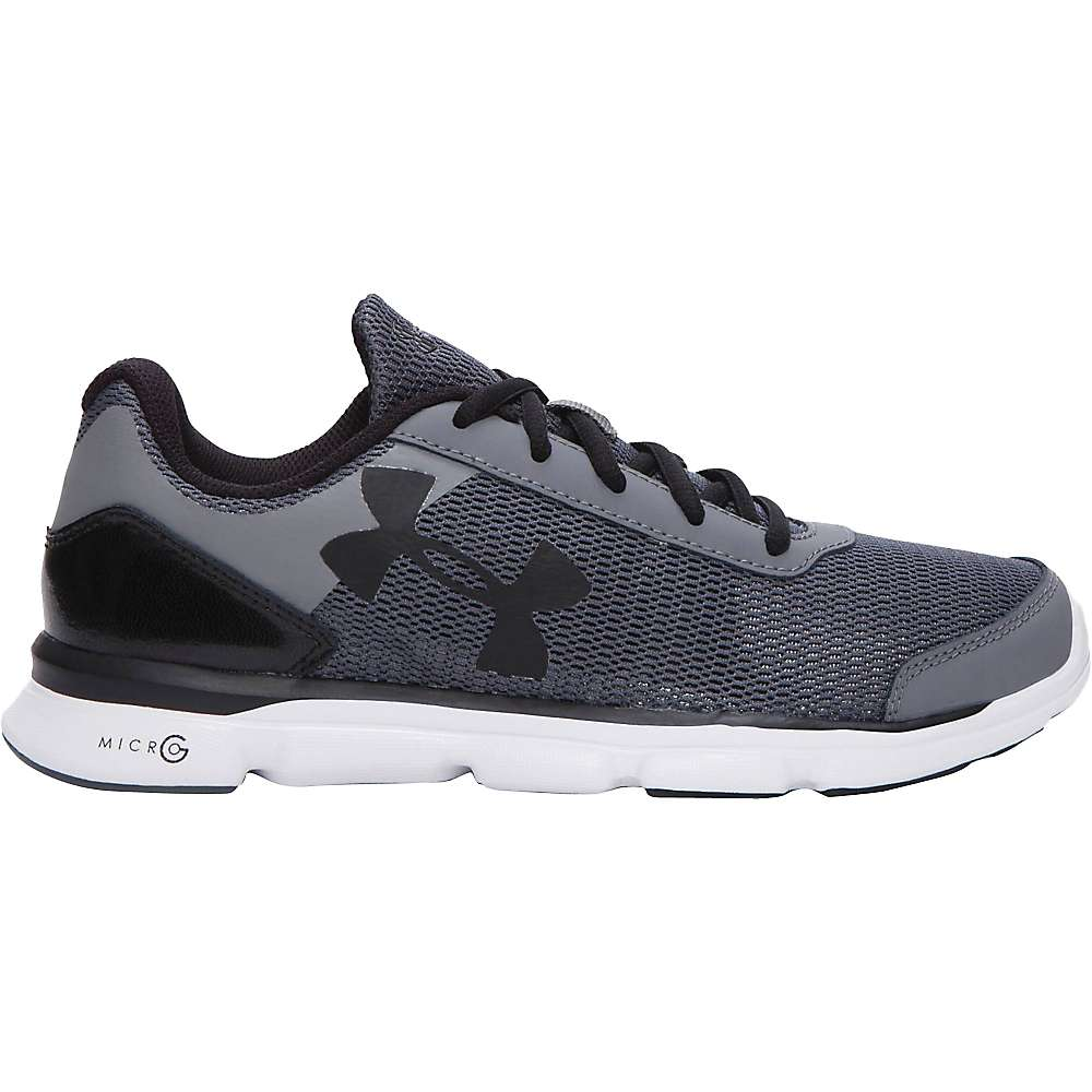 Under Armour Boys' UA BGS Micro G Speed Swift Shoe - 6 - Graphite / White / Black