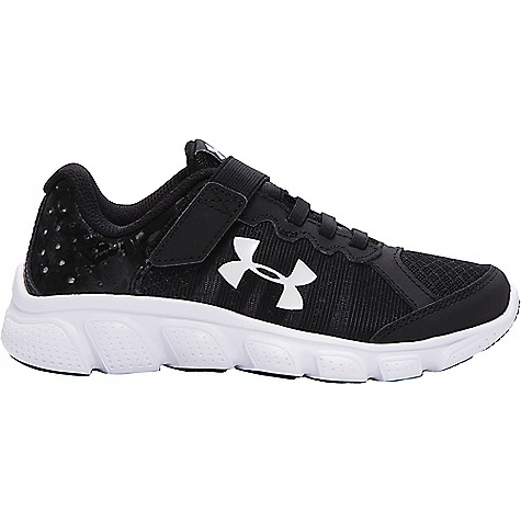 Under Armour Boys' UA BPS Assert 6 AC Shoe Black / White / White