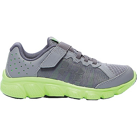 Under Armour Boys' UA BPS Assert 6 AC Shoe Steel / Limelight / Graphite