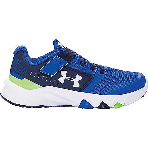 Under Armour Boys' UA BPS Primed AC Shoe Ultra Blue / Midnight Navy / White