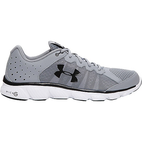 Under Armour Men's UA Micro G Assert 6 Shoe Steel / White / Black