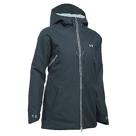 Under Armour Women's UA ColdGear Infrared Revy Insulated Jacket Stealth Grey / Aqua Falls / Steel