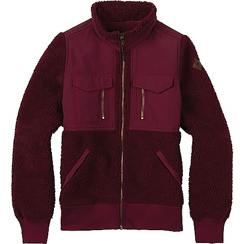 Burton Women's Bolden Full-Zip Fleece Jacket Sangria