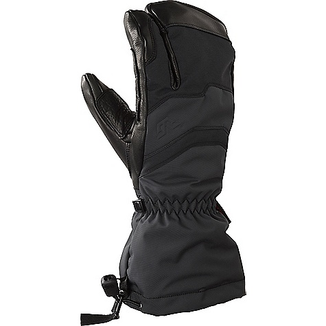 Gordini Men's Elias Gauntlet 3 Finger Glove Black
