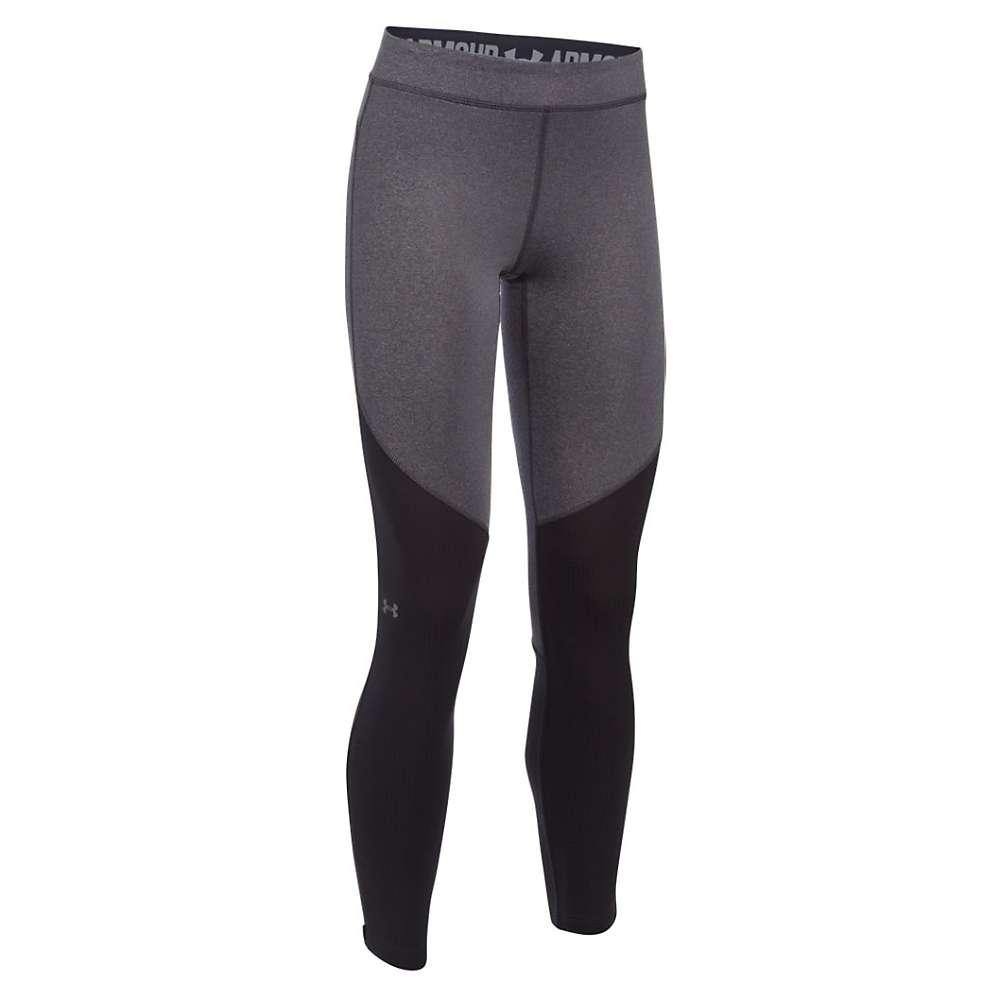 Under Armour Women's ColdGear Armour Elements Legging - Small - Carbon Heather / Reflective