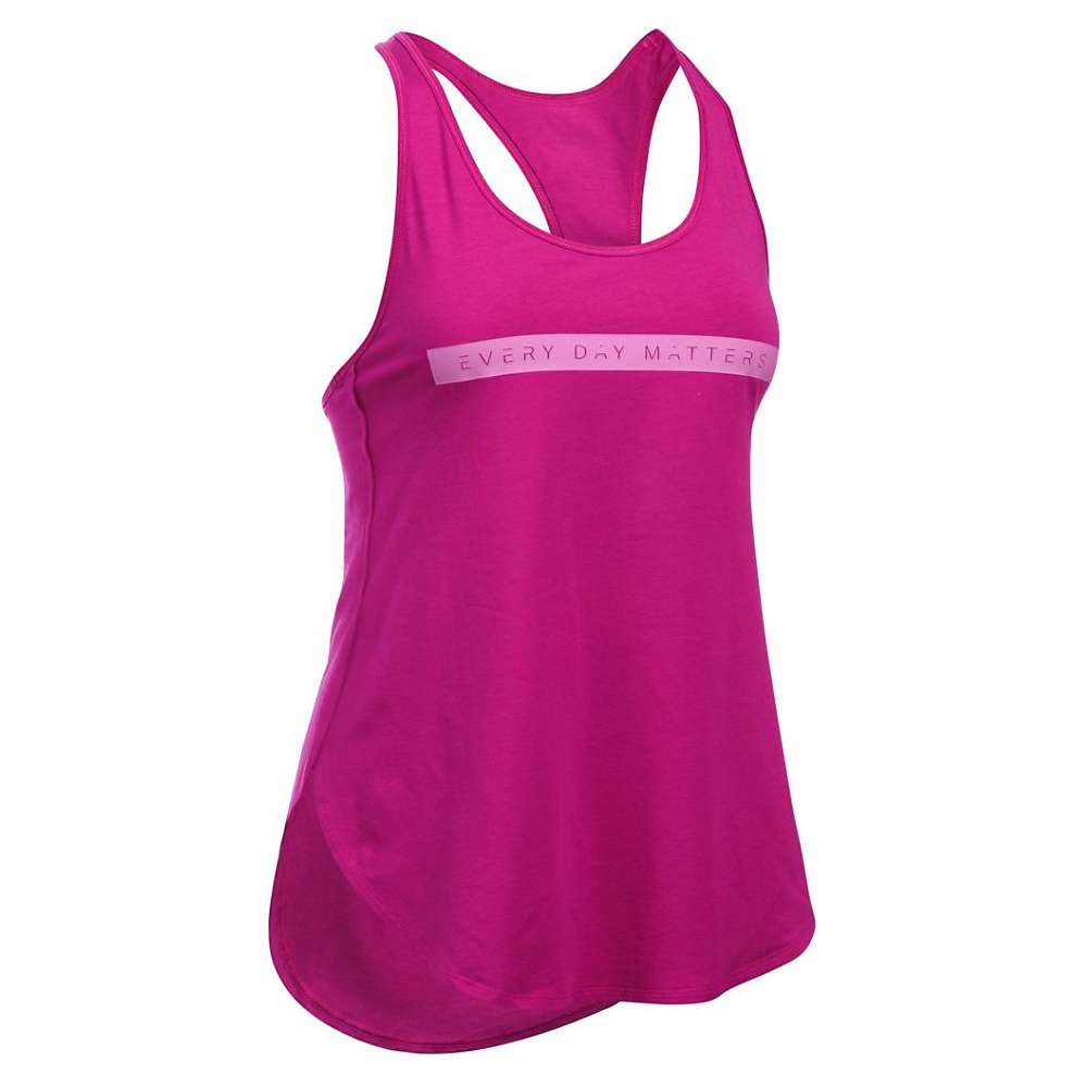 Under Armour Women's Essential Every Day Matters Tank Top - Medium - Magenta Shock / Exotic Bloom