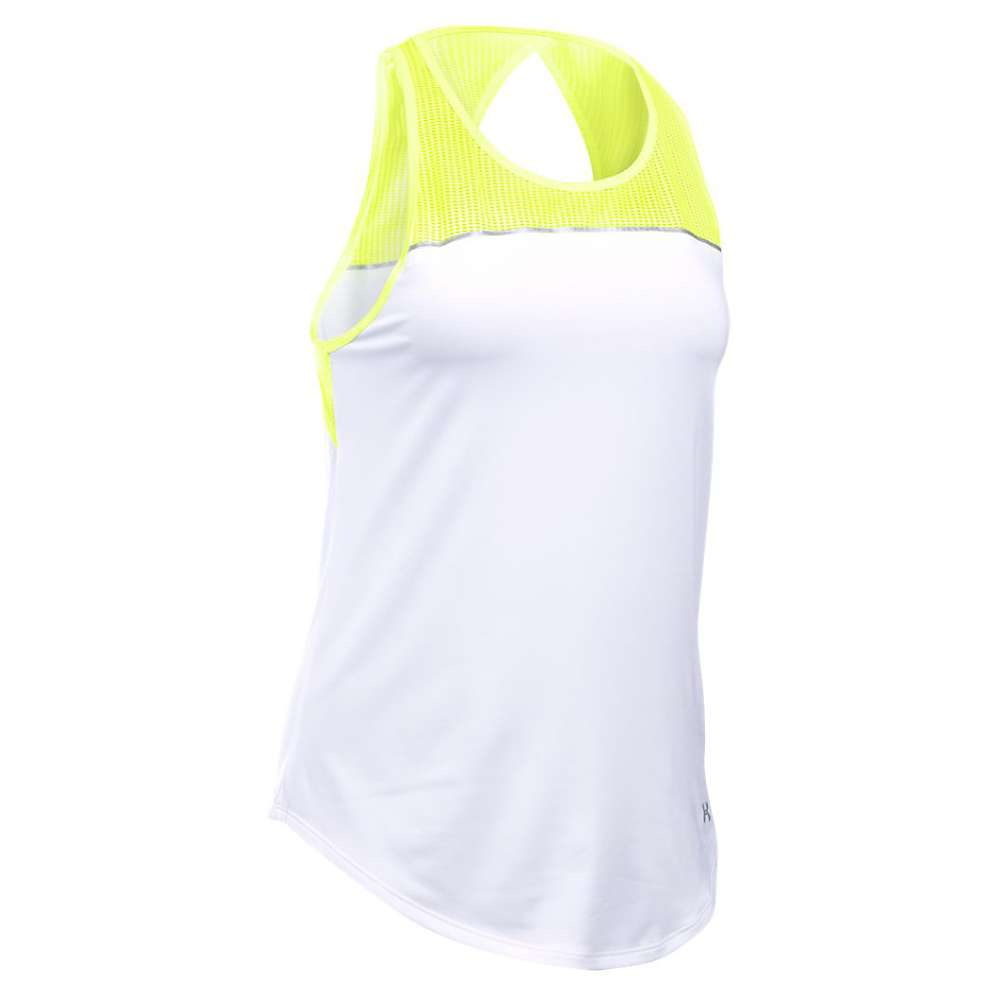Under Armour Women's Fly By Fitted Tank - Medium - X-Ray / White / Reflective