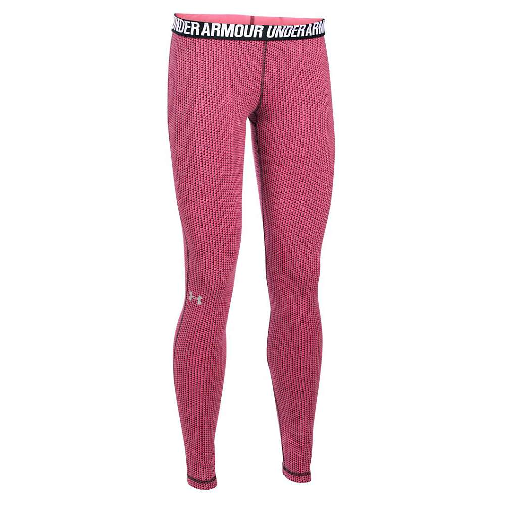 Under Armour Women's Favorite Checkpoint Legging - Large - Pink Sky / Midnight Navy / Black