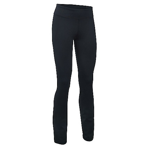 Under Armour Women's Mirror Straight Leg Pant Black / Silver