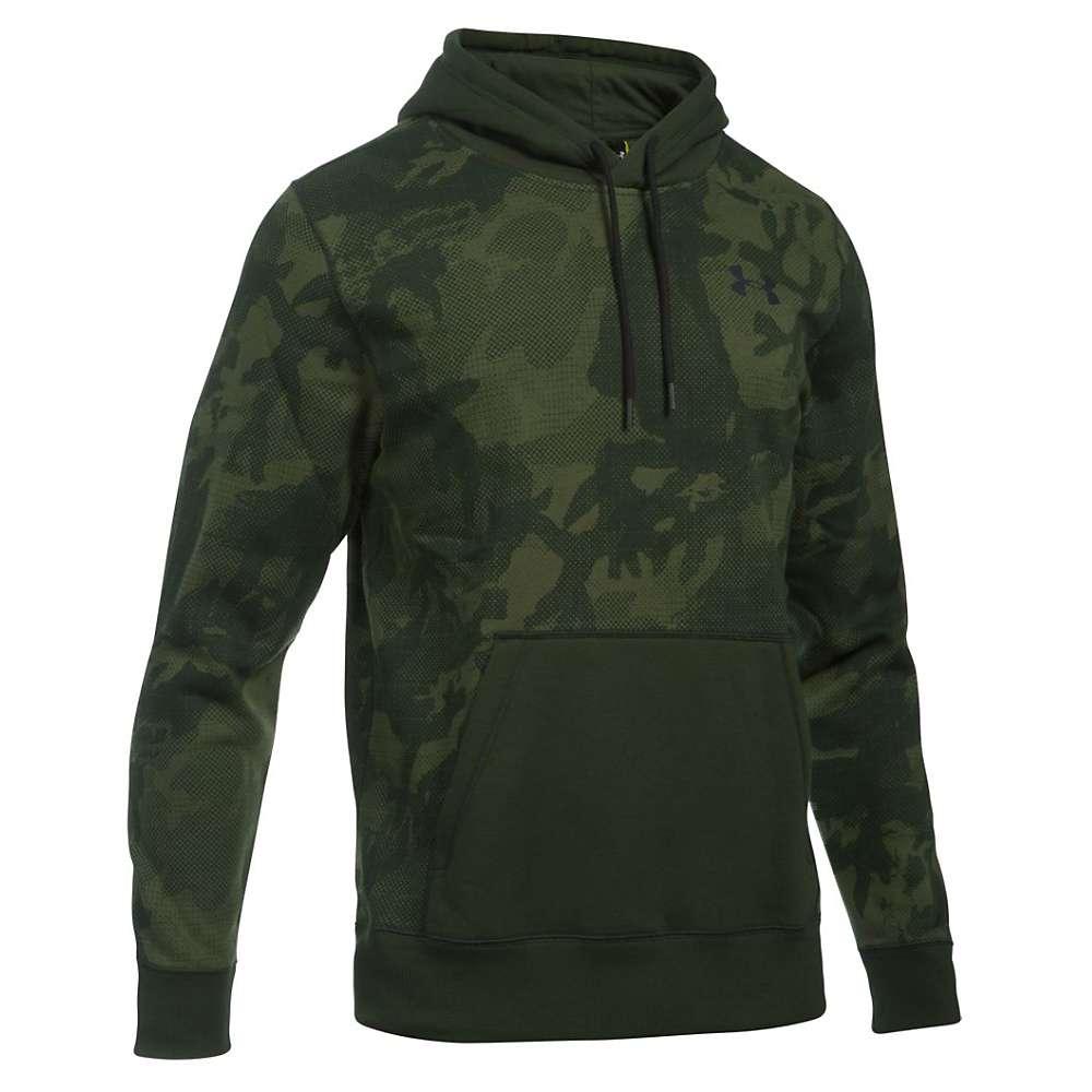 Under Armour Men's Rival Printed Pullover Hoodie - Medium - Artillery Green / Artillery Green / Black