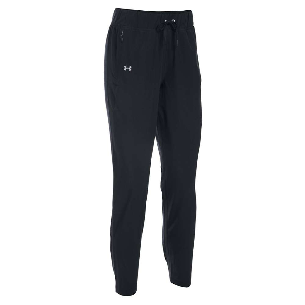 Under Armour Women's Run True Pant - Medium Short - Black / Reflective