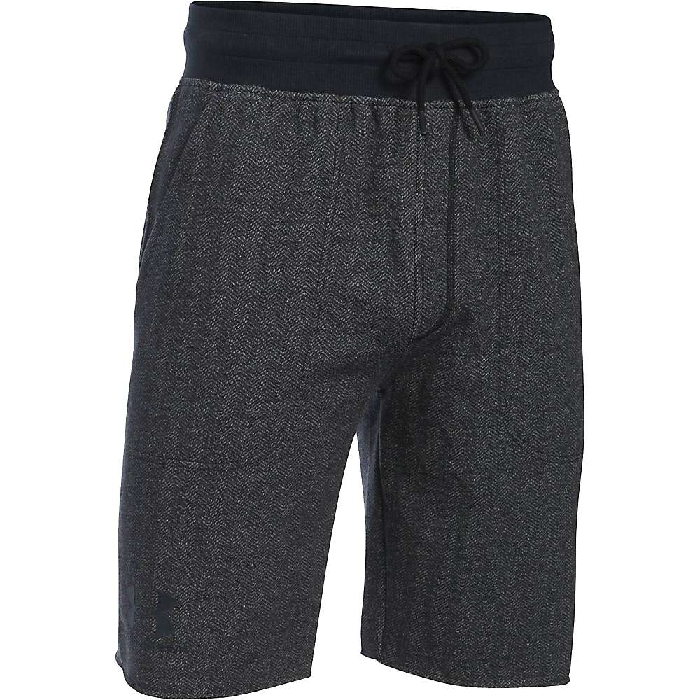 Under Armour Men's Rival Cotton Fleece Short - Small - Asphalt Heather / Black / Black
