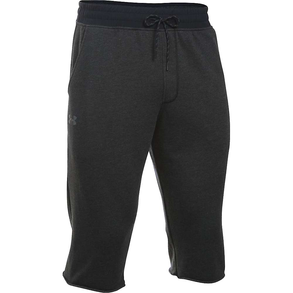 Under Armour Men's Sportstyle Triblend Cutoff Halfpant - Small - Asphalt Heather / Black / Black