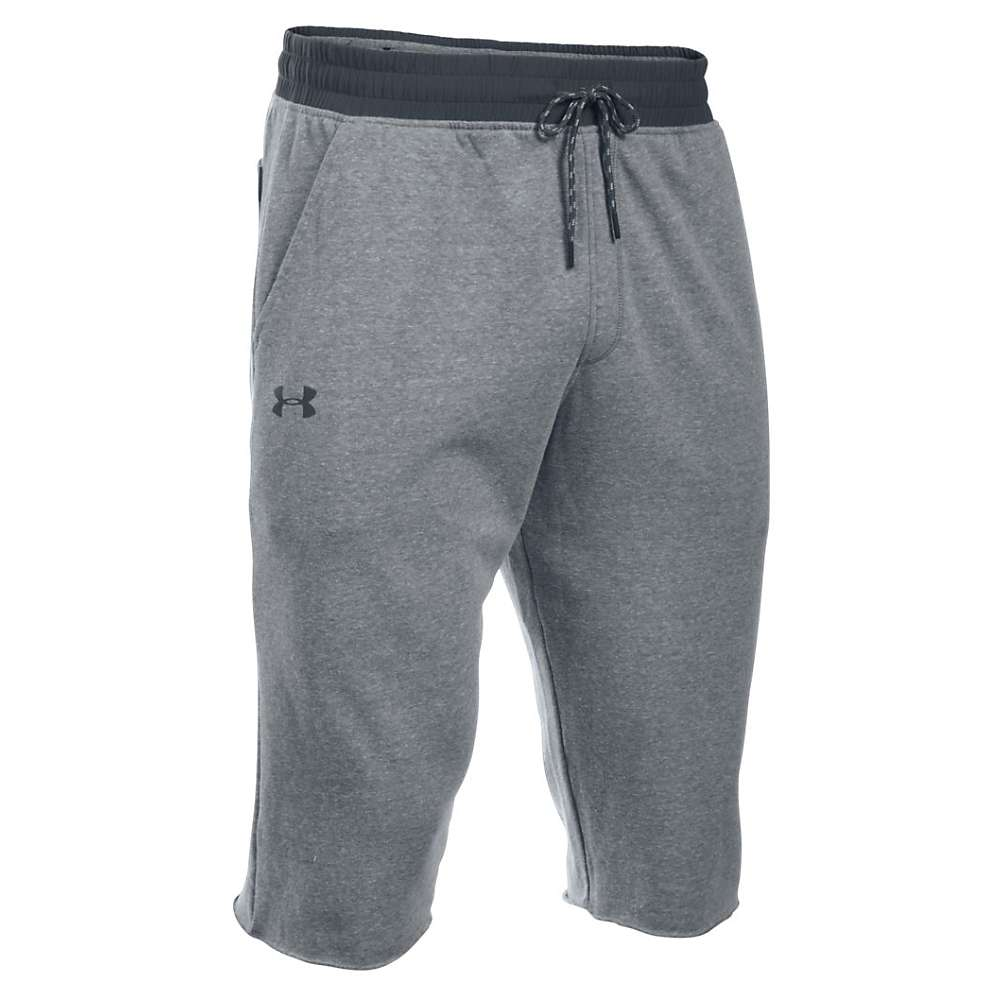 Under Armour Men's Sportstyle Triblend Cutoff Halfpant - XL - Greyhound Heather / Stealth Gray / Stealth Gray