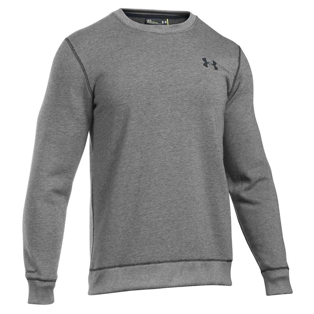 Under Armour Men's Storm Rival Cotton Crew Neck Top - Small - Black / Black