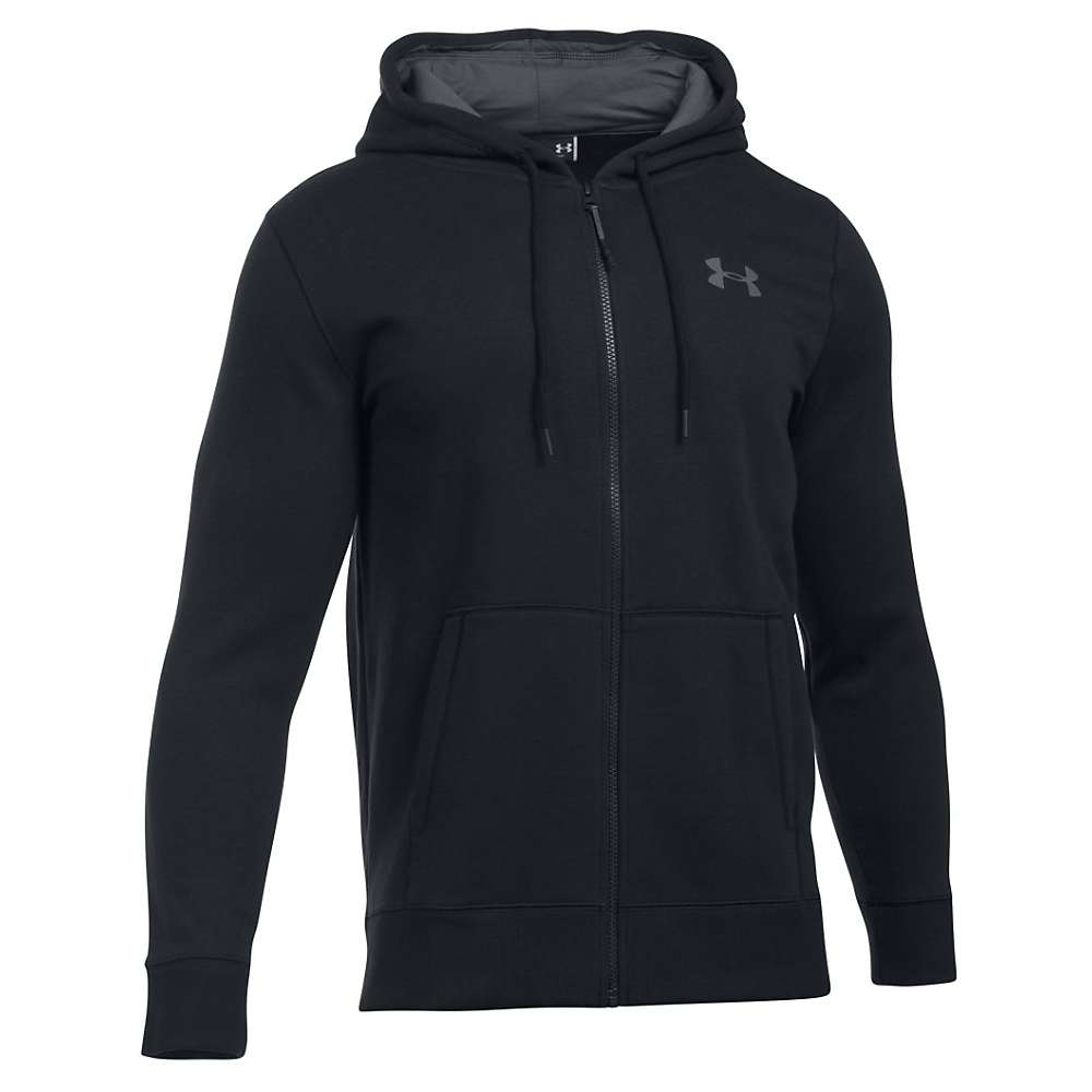 Under Armour Men's Storm Rival Cotton Full Zip Hoodie - XL - Black / Graphite / Graphite