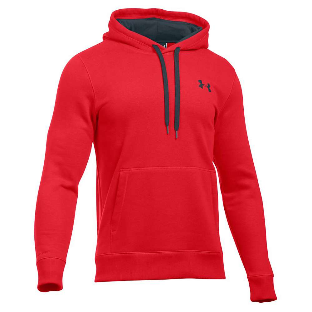 Under Armour Men's Storm Rival Cotton Pullover Hoodie - XL - Red / Stealth Gray / Stealth Gray