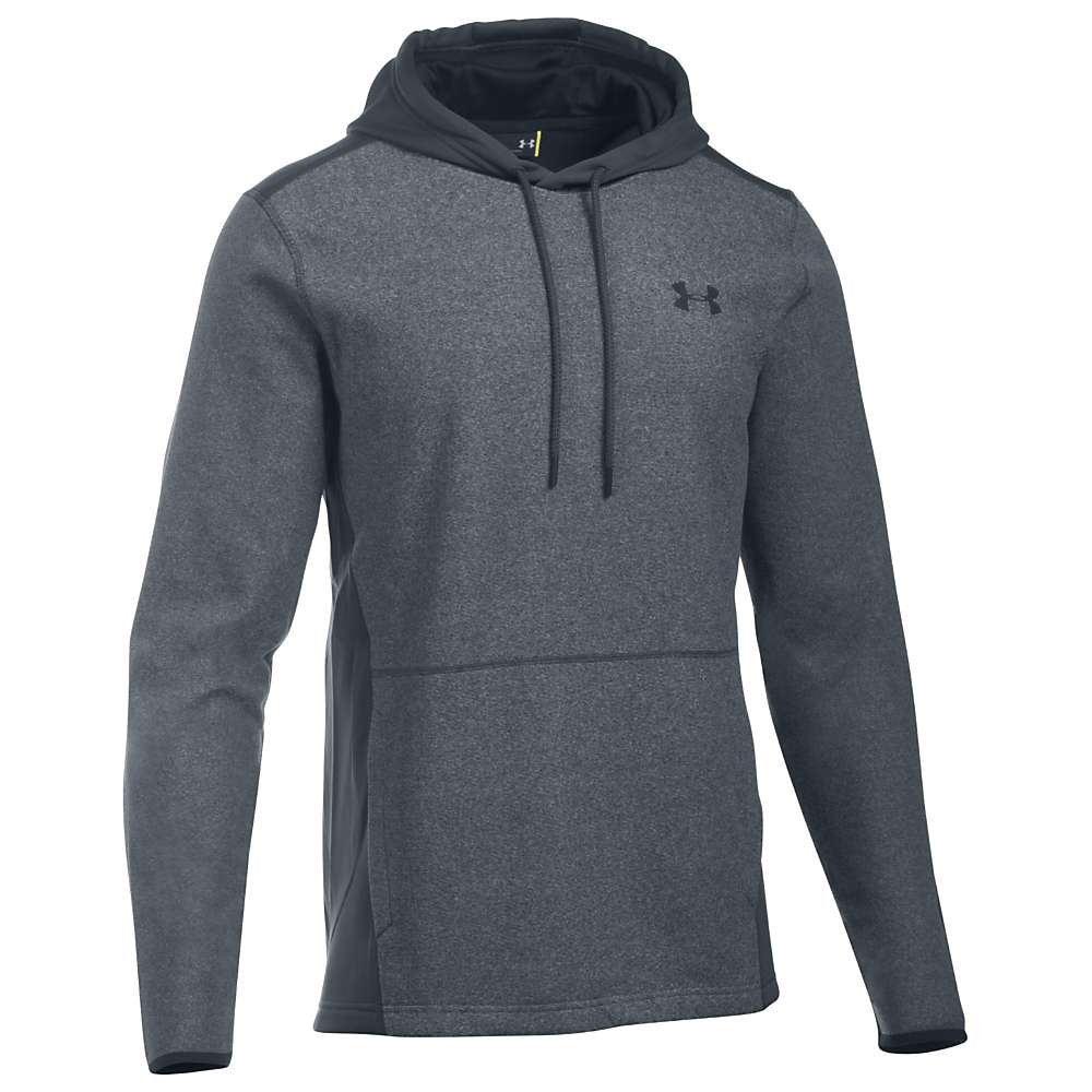 Under Armour Men's The ColdGear Infrared Fleece Pullover Hoodie - Large - Stealth Grey / Stealth Grey / Black