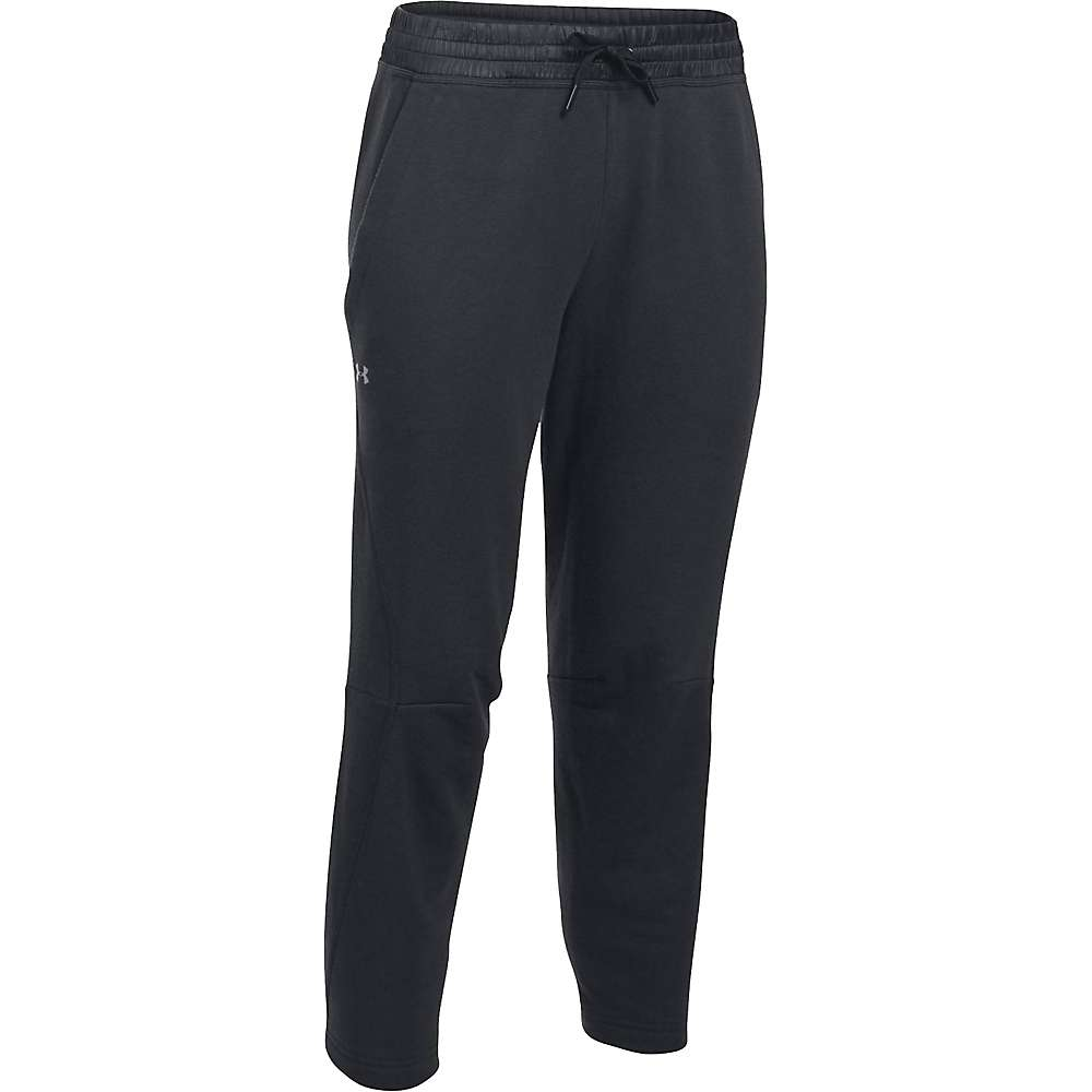 Under Armour Women's The Terry Crop Pant - Small - Black / Silver