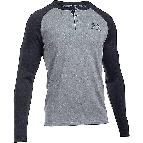 Under Armour Men's Triblend Colorblock LS Henley 1288678