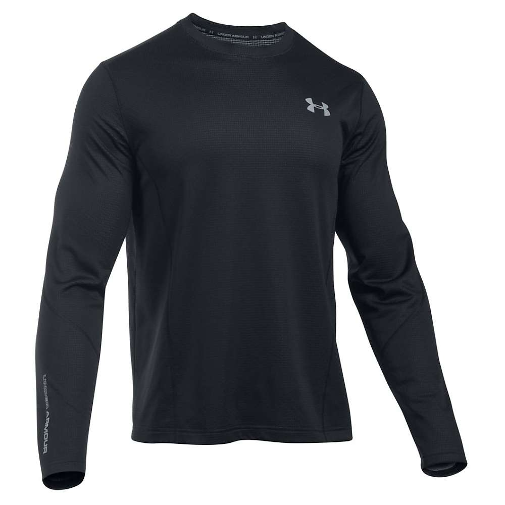 Under Armour Men's UA ColdGear Infrared Raid LS Tee - Small - Black / Steel