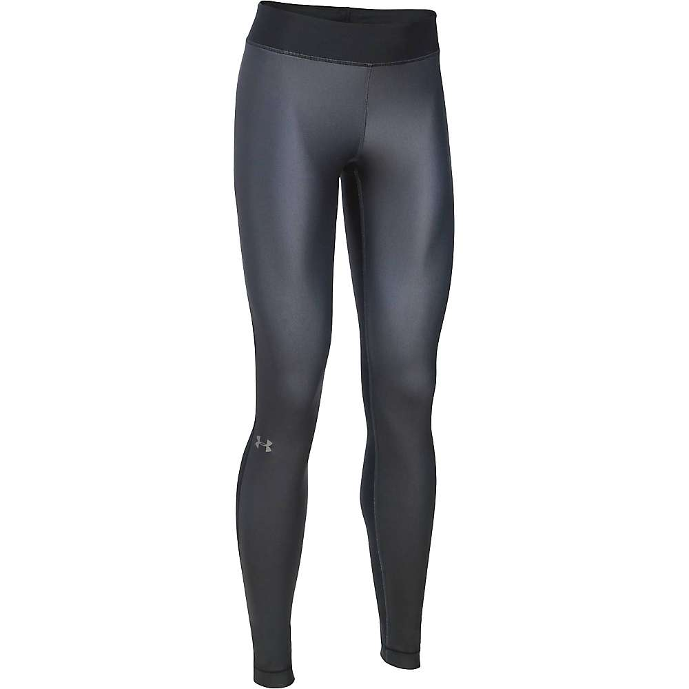 Under Armour Women's UA HeatGear Armour Engineered Legging - XS - Black / Stealth Gray / Metallic Silver