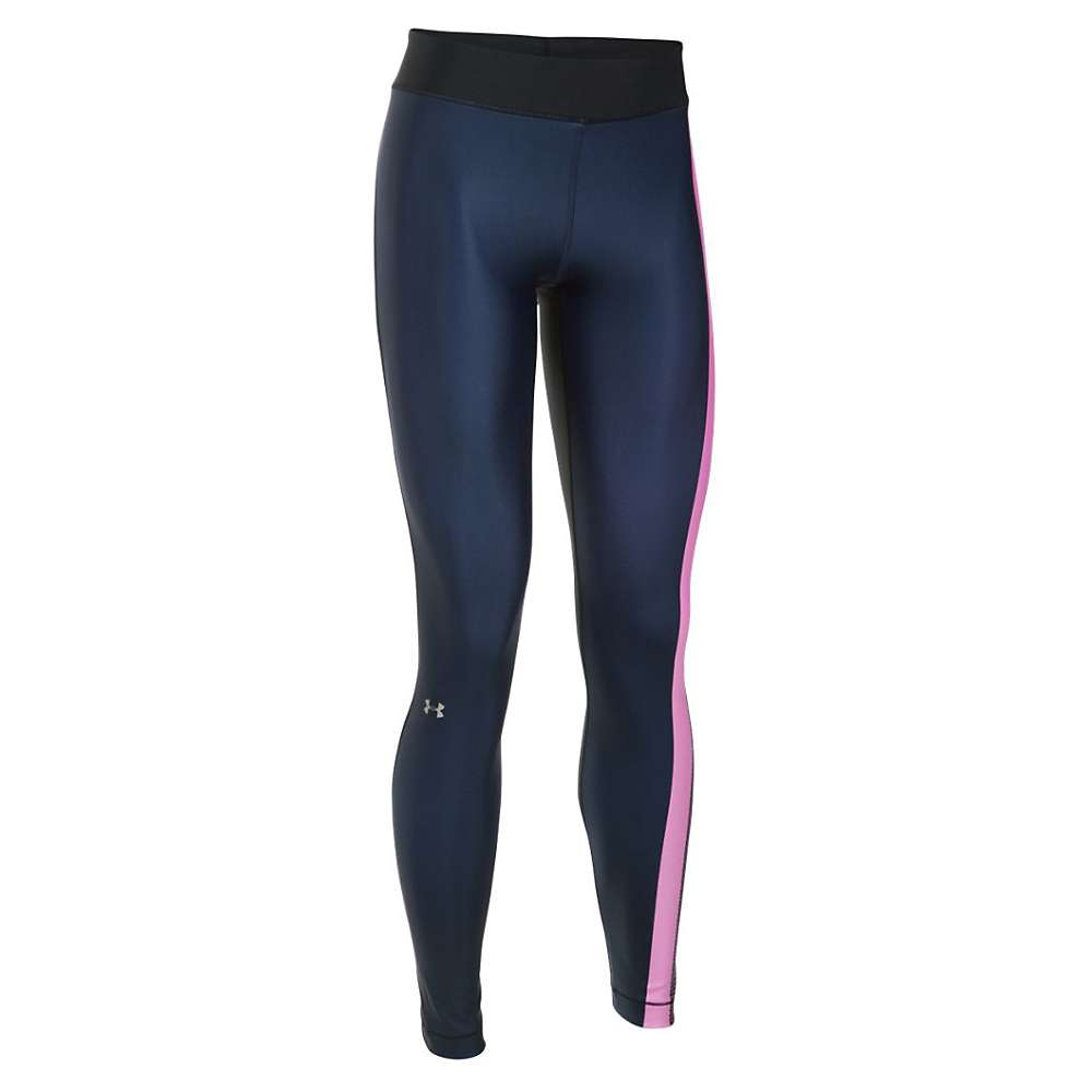 Under Armour Women's UA HeatGear Armour Engineered Legging - XS - Black / Verve Violet / Metallic Silver