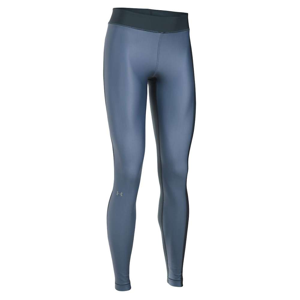 Under Armour Women's UA HeatGear Armour Engineered Legging - Small - Stealth Gray / Aurora Purple / Metallic Silver